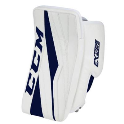 White/Navy (CCM Extreme Flex E3.5 Goalie Blocker - Senior)