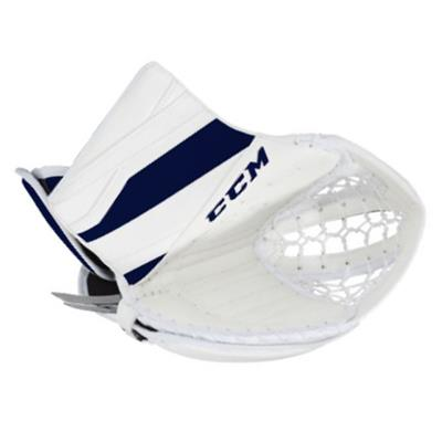 White/Navy (CCM Extreme Flex E3.5 Goalie Catch Glove - Senior)