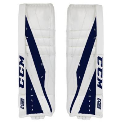 White/Navy (CCM Extreme Flex E3.5 Goalie Leg Pads - Senior)