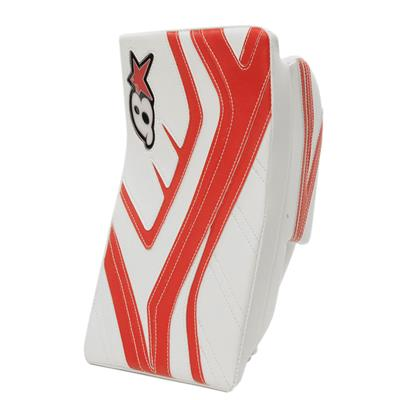 White/Red (Brians GNETiK IV Goalie Blocker - Senior)