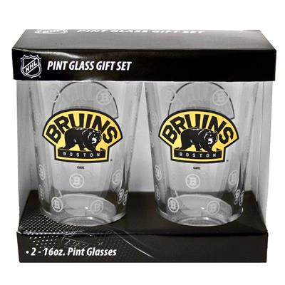 Boston Bruins (16oz NHL Pint Glass 2-Pack - Boston Bruins)