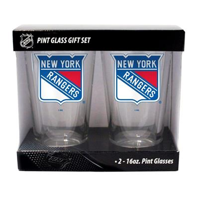 New York Rangers (16oz NHL Pint Glass 2-Pack - New York Rangers)