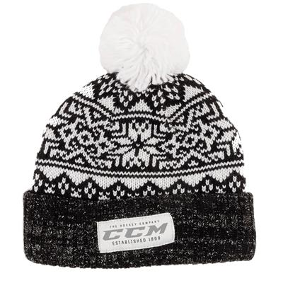 Front (CCM Holiday Knit Hat - Adult)