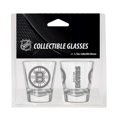 Boston Bruins (2oz NHL Shot Glass 2-Pack - Boston Bruins)