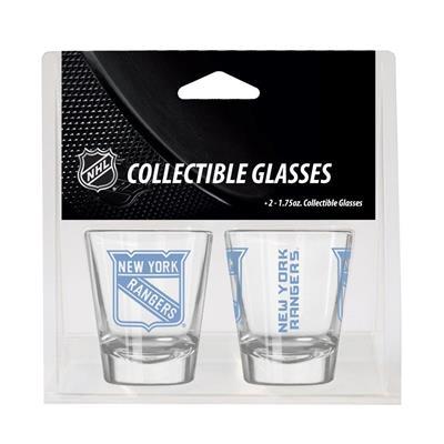 New York Rangers (2oz NHL Shot Glass 2-Pack - New York Rangers)