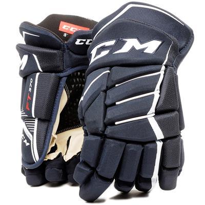 Navy/White (CCM JetSpeed FT370 Hockey Gloves - Junior)