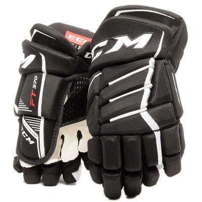Black/White (CCM JetSpeed FT370 Hockey Gloves - Senior)