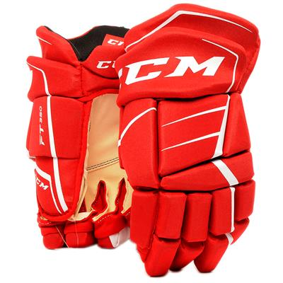 Red/White (CCM JetSpeed FT350 Hockey Gloves - Senior)