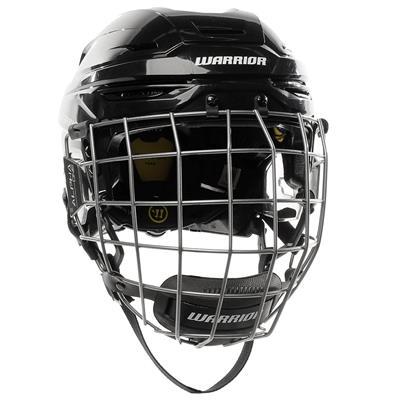 Black (Warrior Alpha One Pro Combo Hockey Helmet)