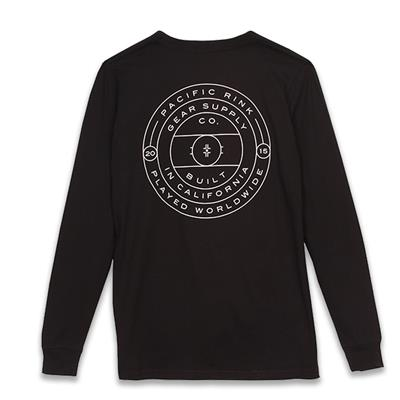 Back (Pacific Rink Face-Off Long Sleeve Tee Shirt - Adult)