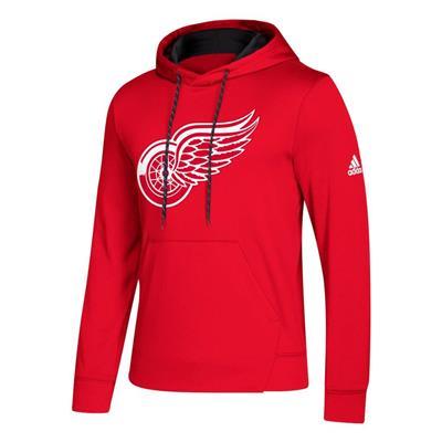 Red (Adidas NHL Performance Hoodie - Detroit Red Wings - Mens)