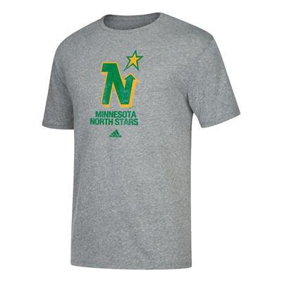 Front (Adidas Retro Short Sleeve Tee Shirt - Minnesota North Stars - Mens)