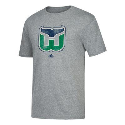 Front (Adidas Retro Short Sleeve Tee Shirt - Hartford Whalers - Mens)