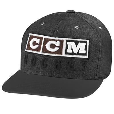 Black (CCM Classic Snapback Cap - Adult)