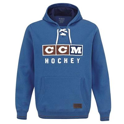 Federal Blue (CCM Classic Lace Fleece Hoodie - Adult)