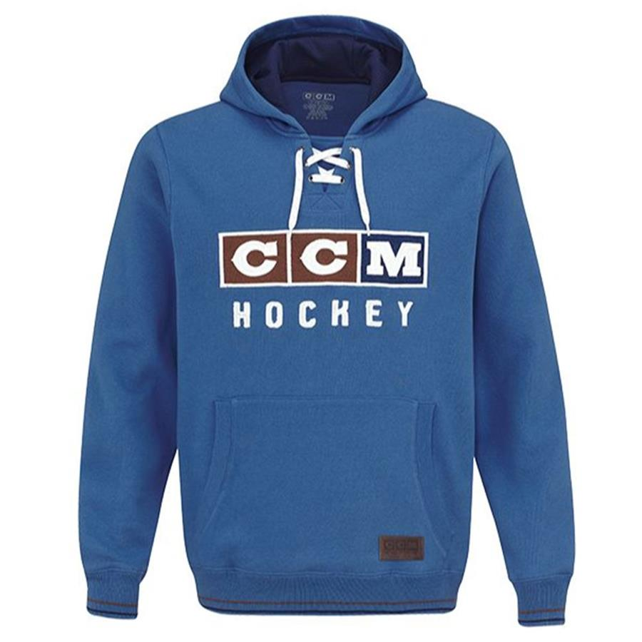 Federal Blue (CCM Classic Lace Fleece Hoodie - Adult) b6cb3e39a