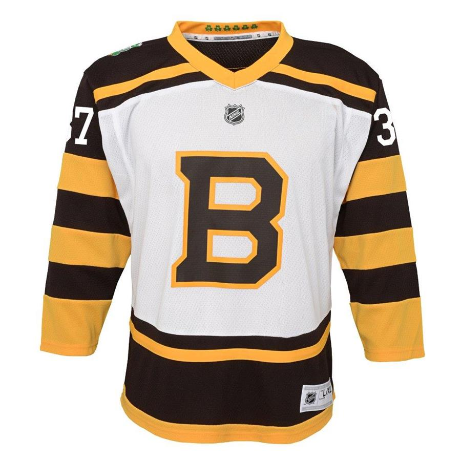 Front (Adidas Boston Bruins 2019 Winter Classic Replica Jersey - Patrice  Bergeron - Youth) 9a3a3fc7bc15