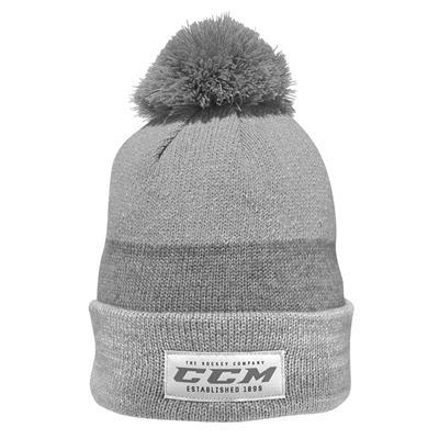 f55986abfd9 Light Grey (CCM Authenticity Pom Knit Hat - Adult)