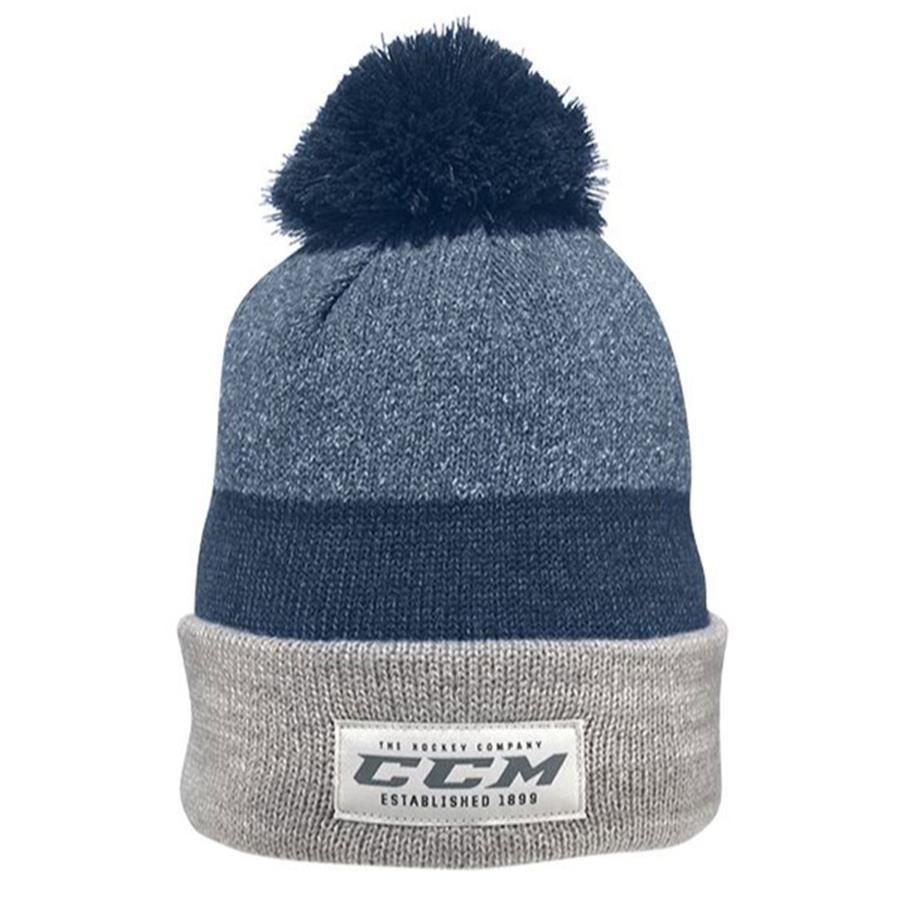 0c463aff5e2 Ocean Blue (CCM Authenticity Pom Knit Hat - Adult)