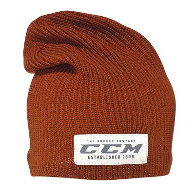Rust (CCM Authenticity Slouch Knit Beanie Hat - Adult)