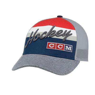 True Navy (CCM 3 Block Trucker Cap - Youth)