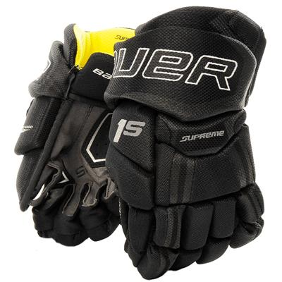 Black (Bauer Supreme 1S Hockey Gloves - 2017 - Youth)