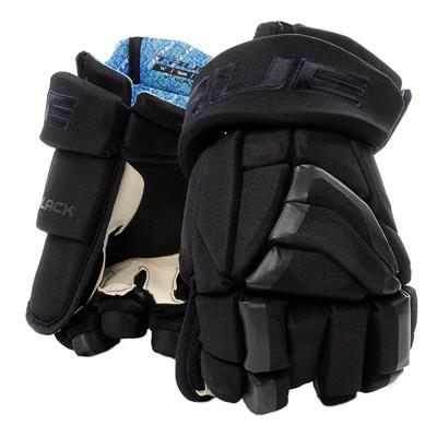 Navy (TRUE X-Core Black Hockey Gloves - Junior)