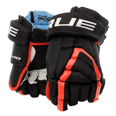 Black/Red (TRUE X-Core Pro Hockey Gloves - Senior)