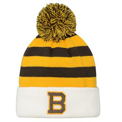 Front (Adidas Boston Bruins 2019 Winter Classic Pom Knit Hat - Youth)