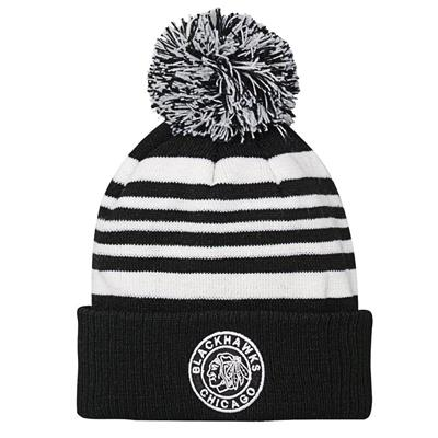 Front (Adidas Chicago Blackhawks 2019 Winter Classic Pom Knit Hat - Youth)