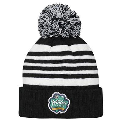 Back (Adidas Chicago Blackhawks 2019 Winter Classic Pom Knit Hat - Youth)