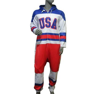 (USA Hockey Miracle Onesie White - Adult)