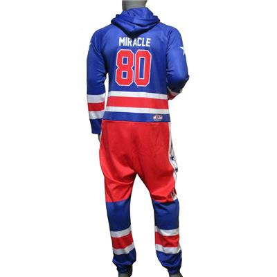 (USA Hockey Miracle Onesie Royal - Adult)