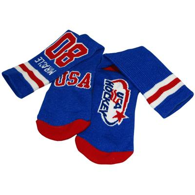 (USA Hockey Miracle Crew Socks Royal - Adult)