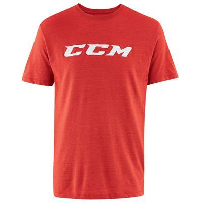 Red Heather (CCM Core Tri Blend Short Sleeve Hockey Shirt - Adult)