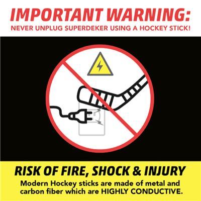 DO NOT USE STICK TO UNPLUG (SuperDeker Advanced Hockey Training System)