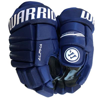 Dark Royal/White (Warrior Alpha QX3 Hockey Gloves - Senior)