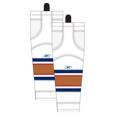 Away/White (Reebok Edmonton Oilers Edge SX100 Hockey Socks)