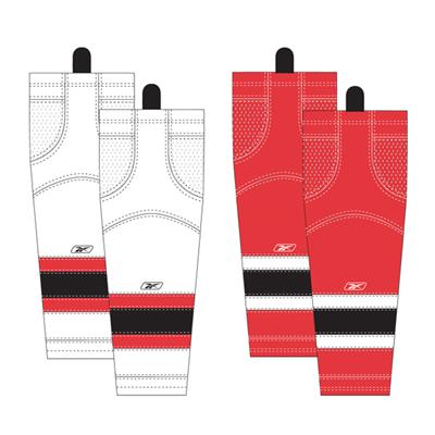 Junior (Reebok New Jersey Devils Edge SX100 Hockey Socks)