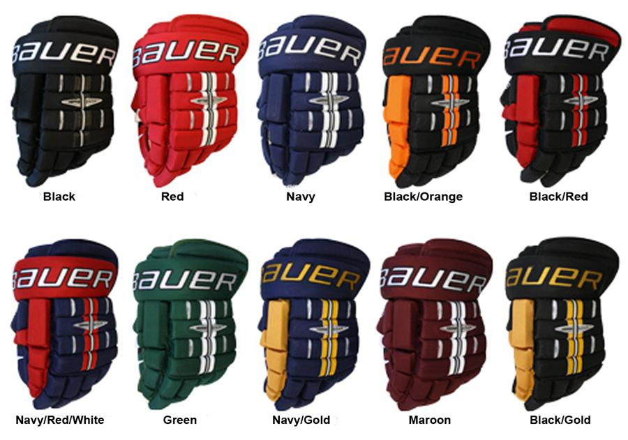 4fbc4e16c1c Assorted Colors (Bauer Pro 4-Roll Gloves  10 Model - Junior)