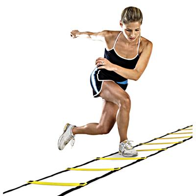 Ladder in use (SKLZ Quick Ladder)