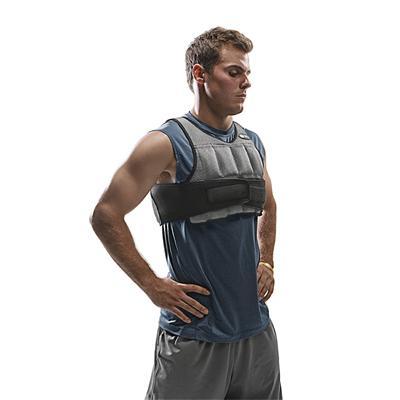 Vest being worn (SKLZ Weighted Vest)
