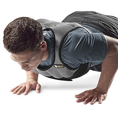 Training with vest (SKLZ Weighted Vest)