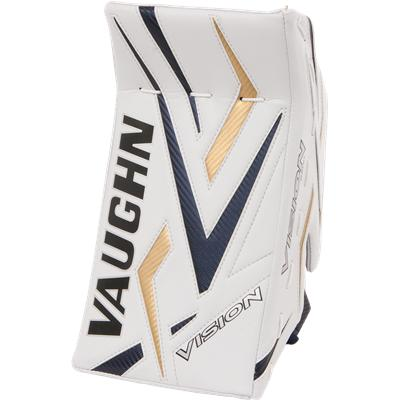 White/Blue/Gold/Blue (Vaughn 9500 Vision Pro Goalie Blocker)