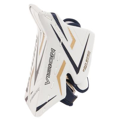 thumb Protection - White/Blue/Gold/Blue (Vaughn 9500 Vision Pro Goalie Blocker)