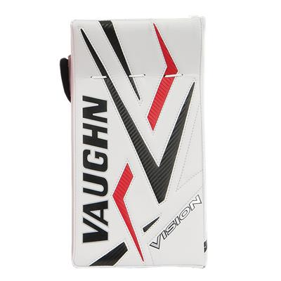 Front - White/Black/Red/Black (Vaughn 9500 Vision Pro Goalie Blocker)