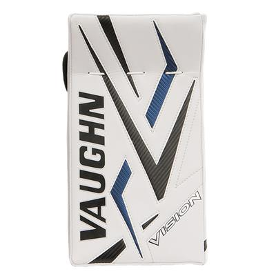 Front - White/Black/Blue/Black (Vaughn 9500 Vision Pro Goalie Blocker)