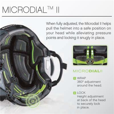 Micro-Dial II Pulls Helmet Into Safter Position (Reebok 11K Hockey Helmet)