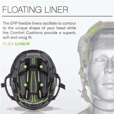 Floating Liner Contours To Shape Of Your Head (Reebok 11K Hockey Helmet)
