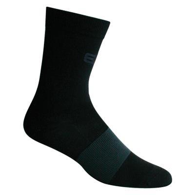 Black (Elite Hockey Pro Slimfit Mid-Calf Coolmax Socks - Adult)